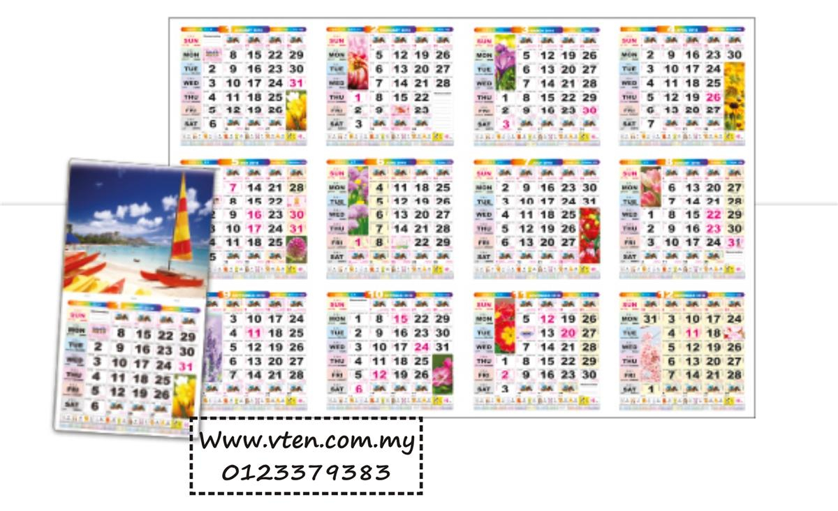 Custom Made Calendar Malaysia Desk Ca (End 3/5/2020 3:15 Pm)