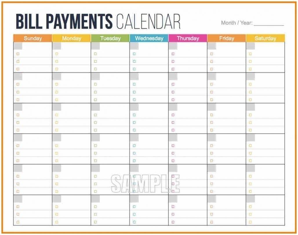 Dashing Blank Calendar For Budget • Printable Blank Calendar Template