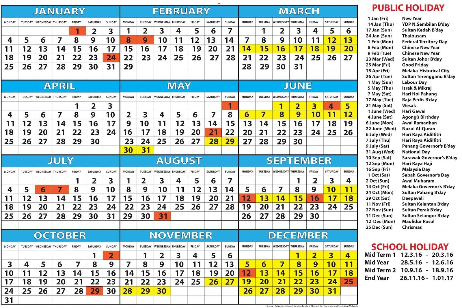 December 2019 Calendar Malaysia » Creative Calendar Ideas