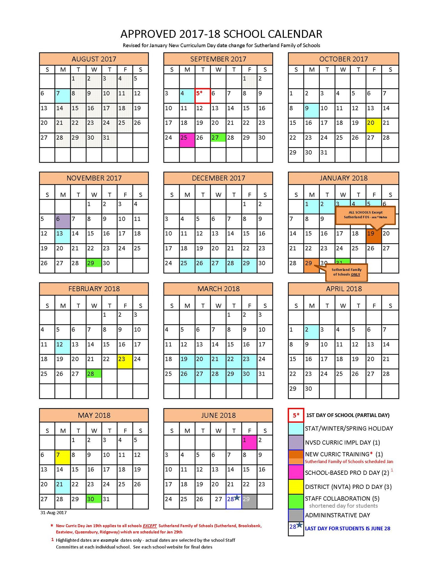 District Calendar - North Vancouver School District