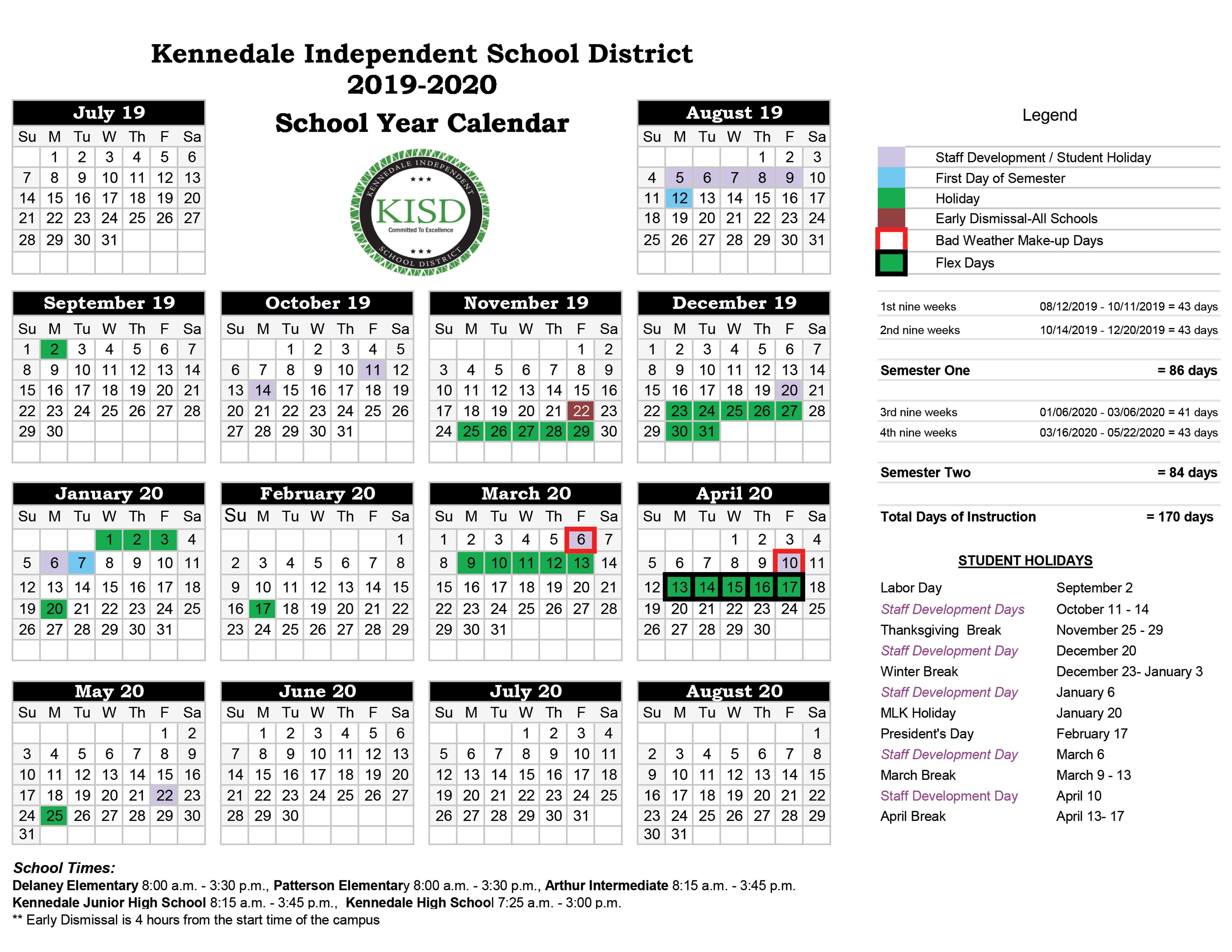 District Calendars / District Calendars
