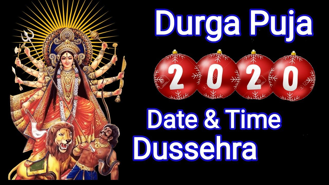 Durga Puja 2020 Date And Time