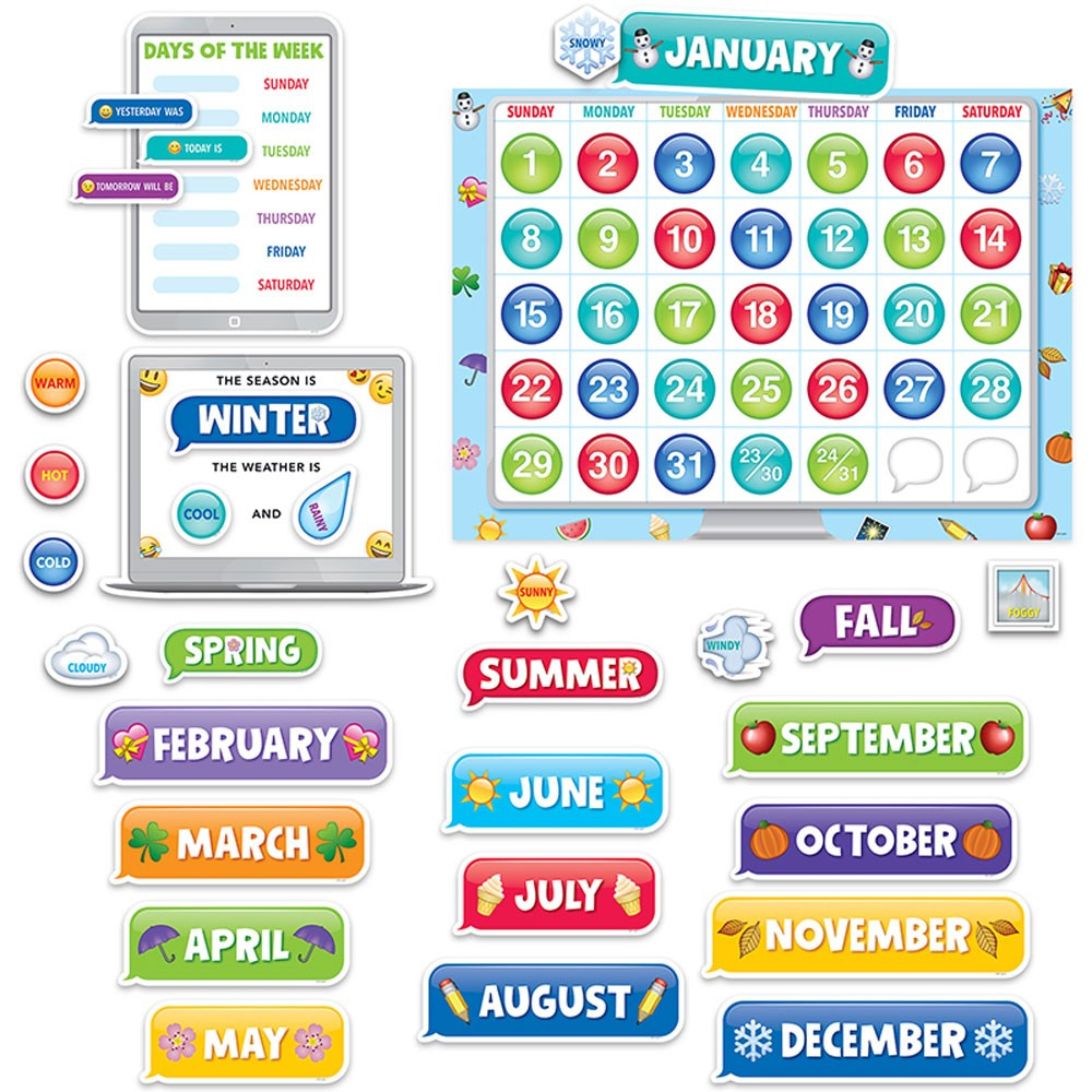 Emoji Fun Calendar Set Bb - Ctp2649