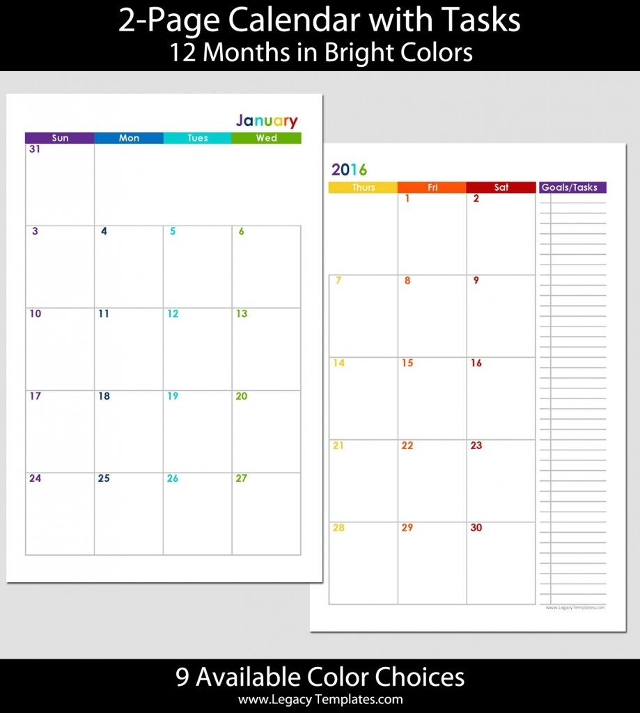 Exceptional 8 X 8 Blank Calendar • Printable Blank Calendar Template