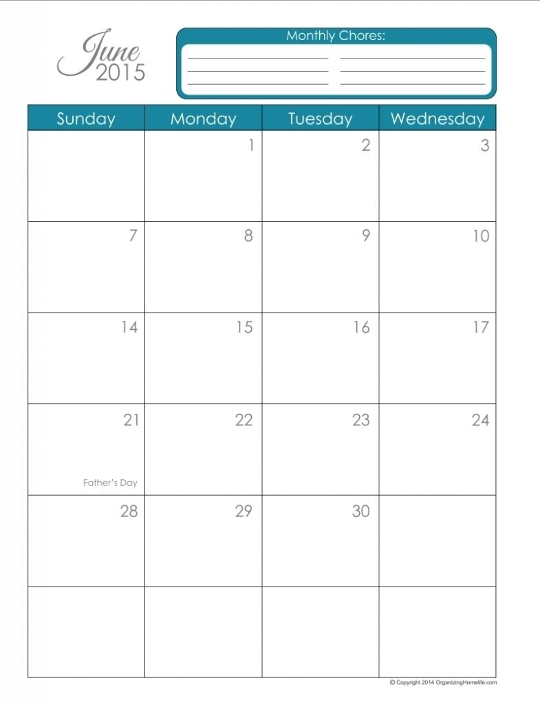 Exceptional Blank Calendar 8.5 X 11 • Printable Blank Calendar Template