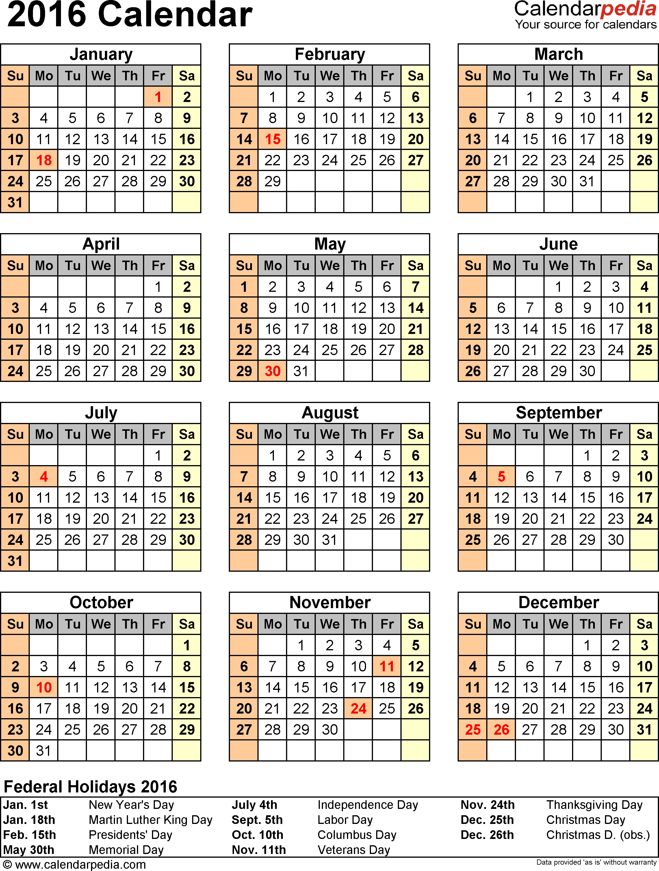 Exceptional Blank Vacation Calendar Template • Printable Blank