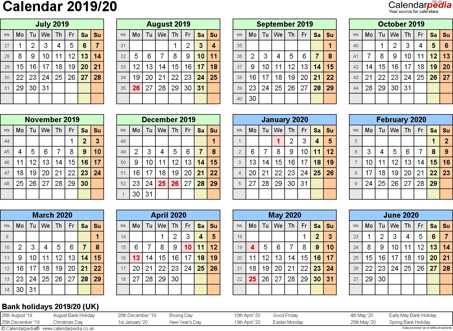 Extraordinary Calendar 2019 And 2020 Nz • Printable Blank Calendar