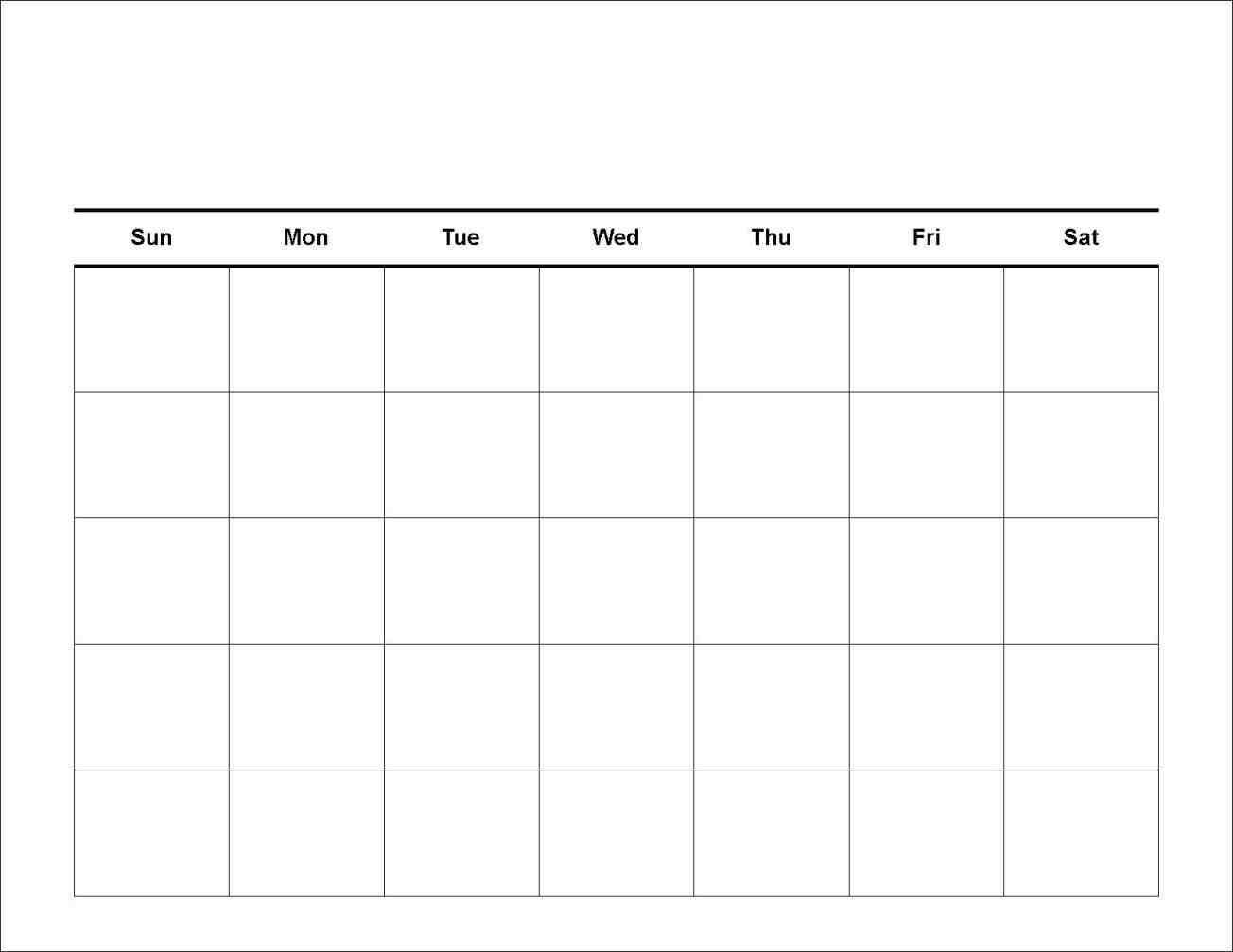Free 7 Day Blank Calendar