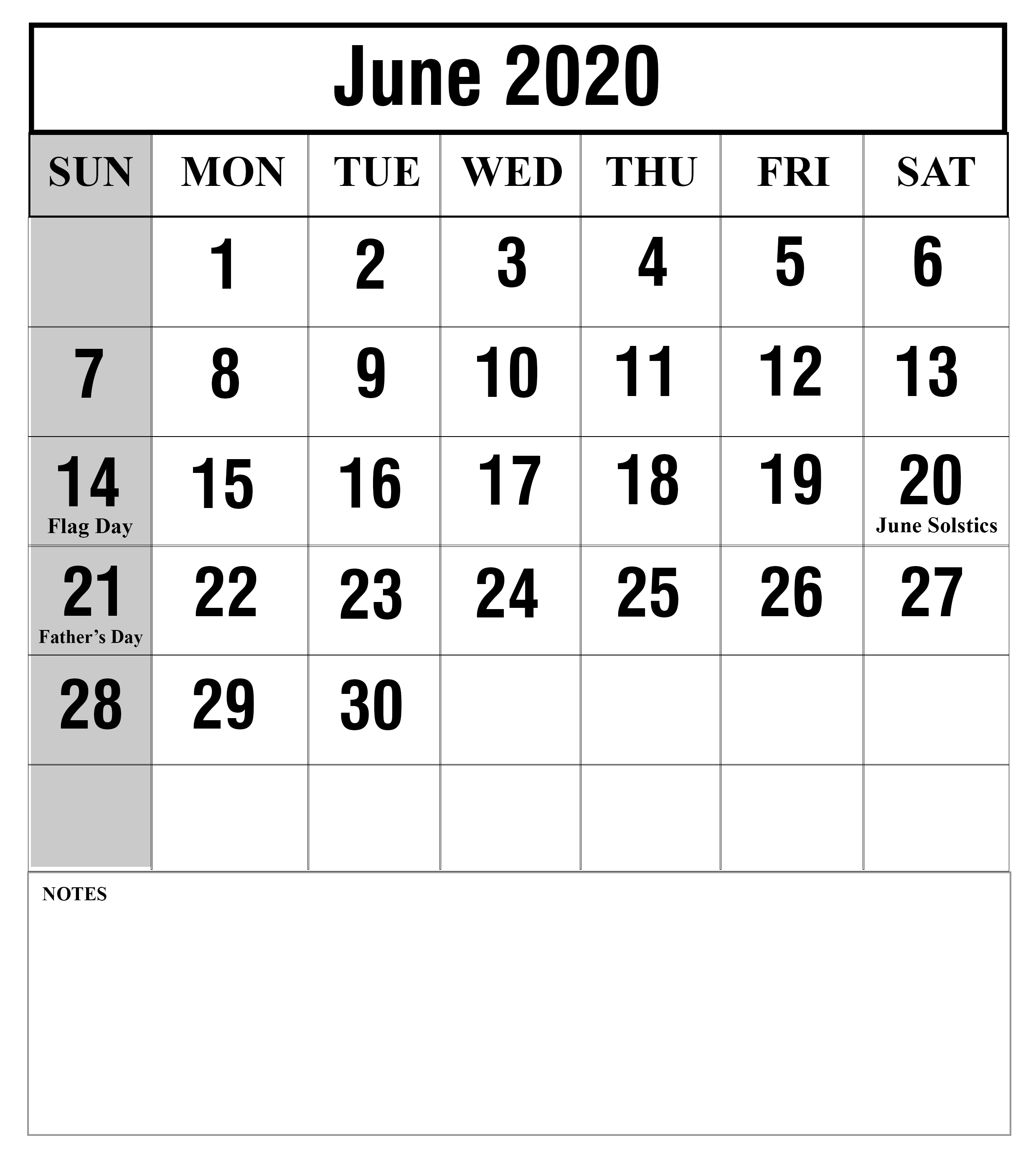 [%Free Blank June 2020 Printable Calendar With Holidays [Pdf, Excel|June 2020 Calendar With Holidays|June 2020 Calendar With Holidays%]