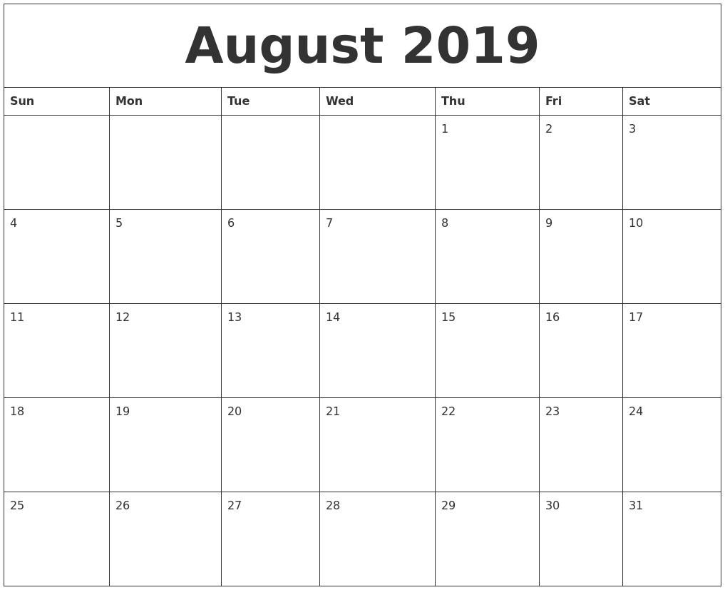 Free July 2018 Calendar