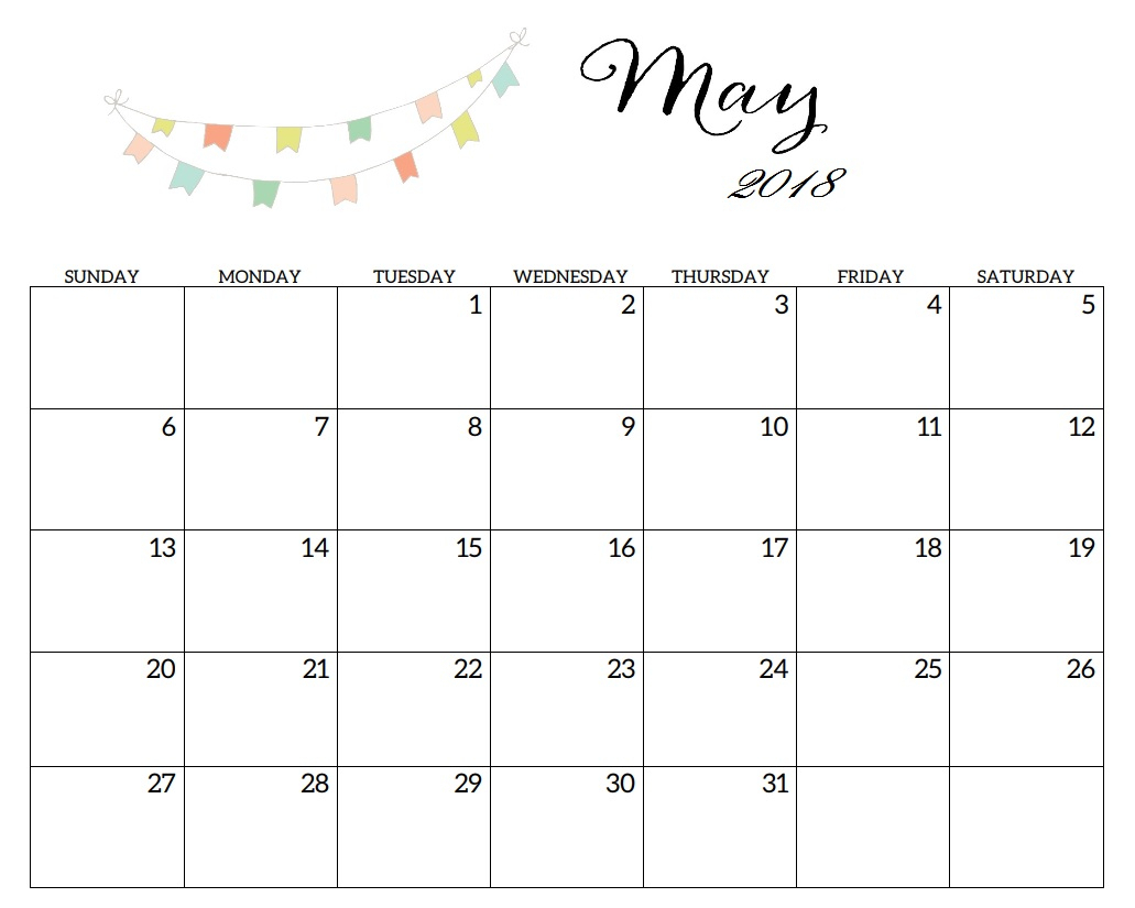 Free May 2019 Calendar Printable Word Pdf Landscape Excel Download