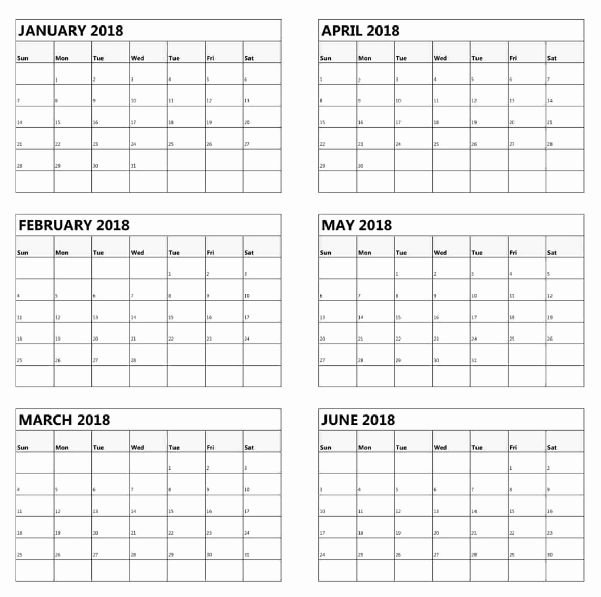Free Printable 2019 Calendar 3 Months Per Page Free Printable 6