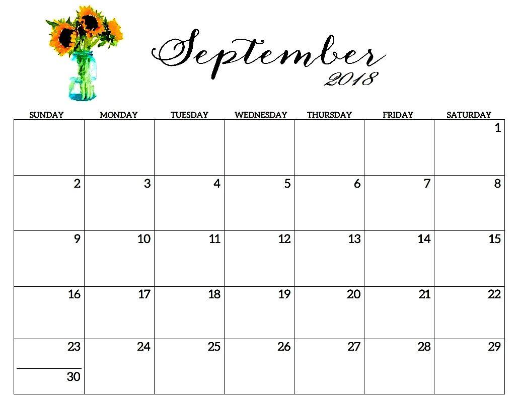 Free Printable Calendar September Outlook Template Free