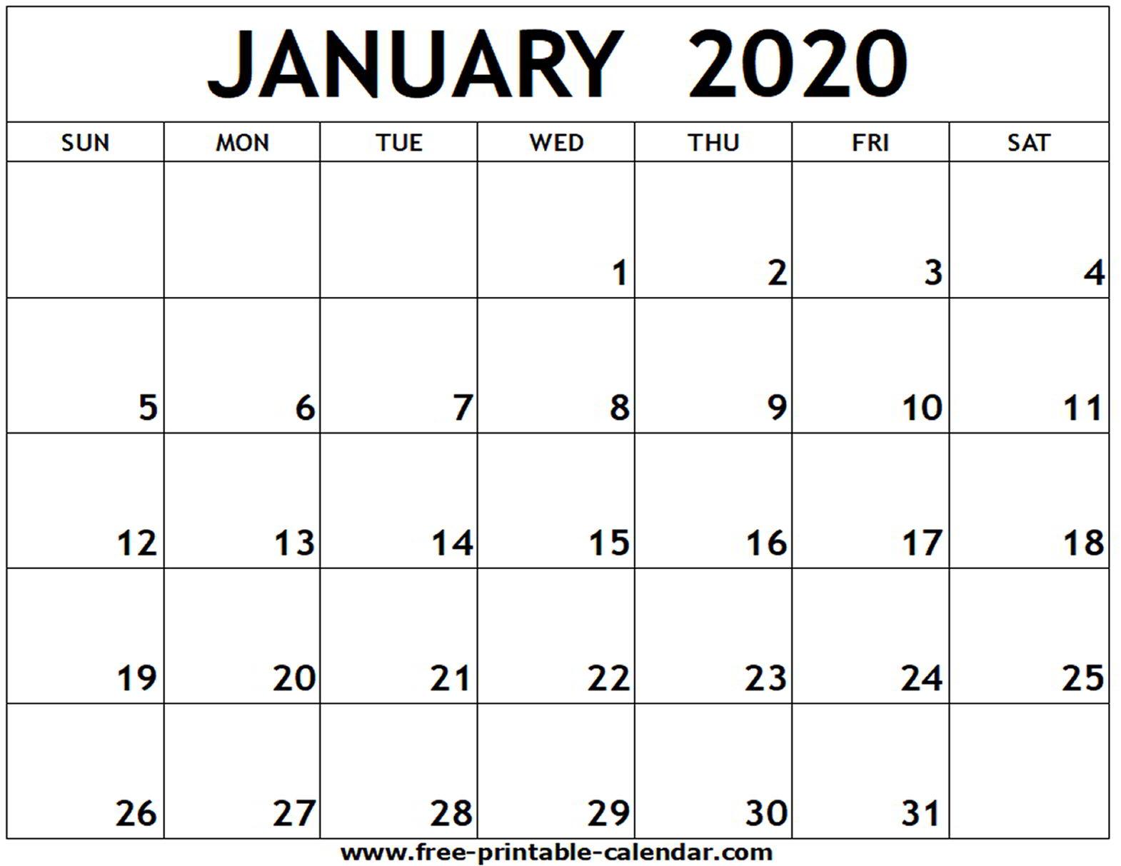Free Printable Calendars Com