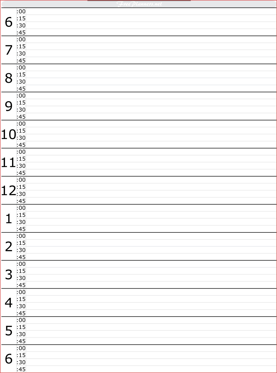 Free Printable Hourly Calendar Daily Calendars With Hourly Slots