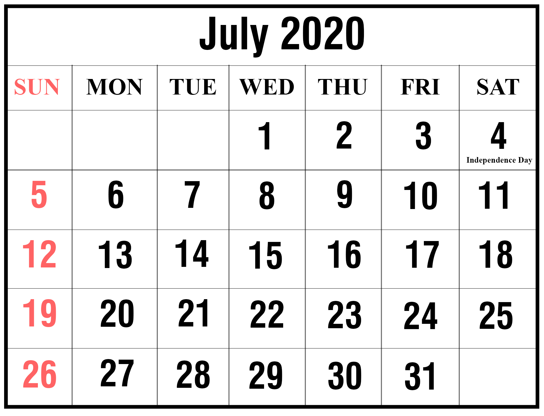 [%Free Printable July 2020 Calendar Templates [Pdf,word,excel|2020 Calendar Sri Lanka With Holidays|2020 Calendar Sri Lanka With Holidays%]