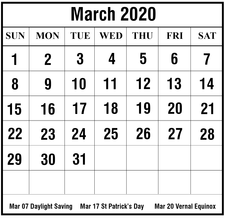 [%Free Printable March 2020 Calendar Templates [Pdf,word,excel|2020 Calendar Legal Holidays|2020 Calendar Legal Holidays%]