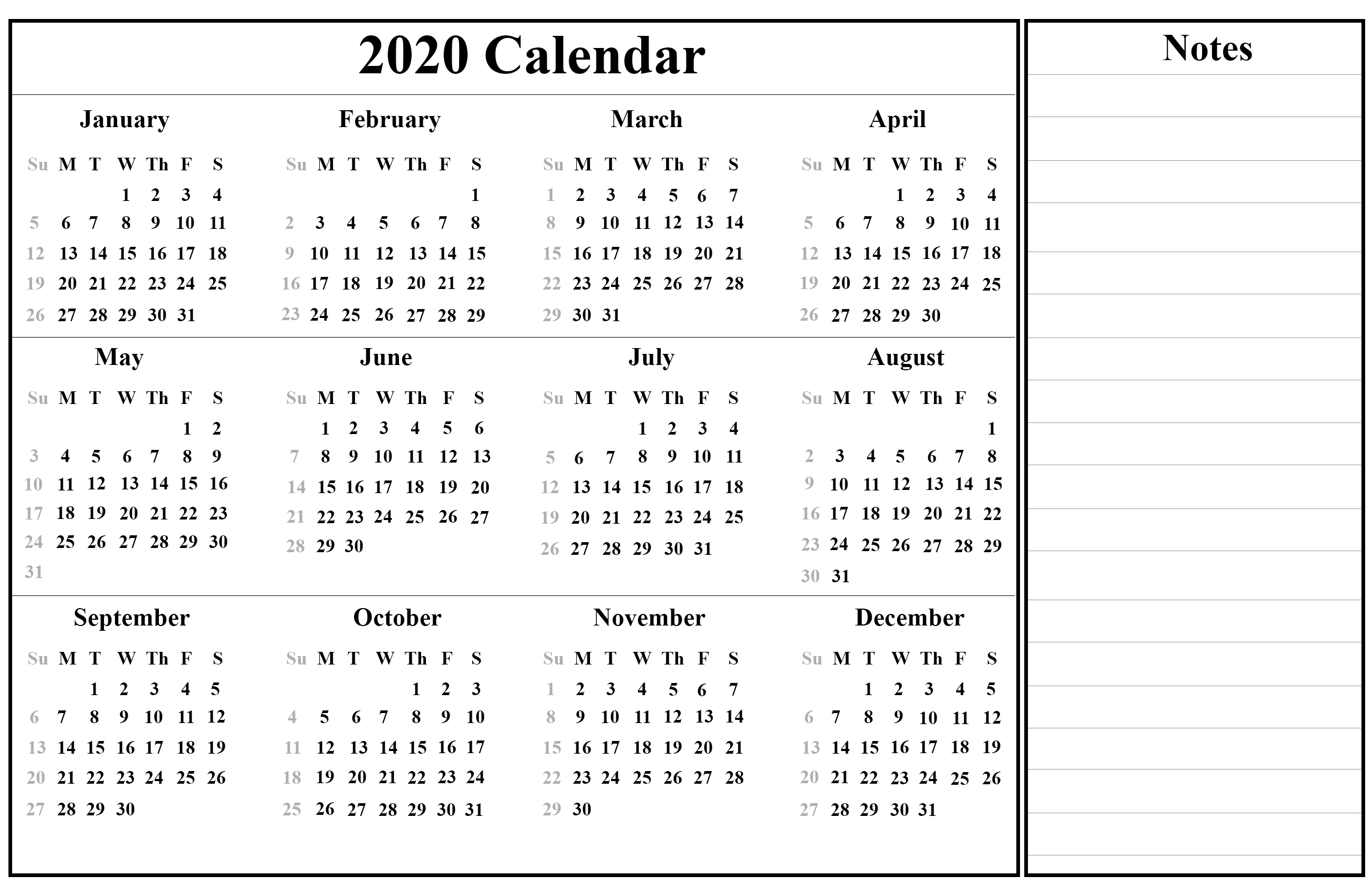Free Printable Singapore 2020 Calendar With Holidays In Pdf