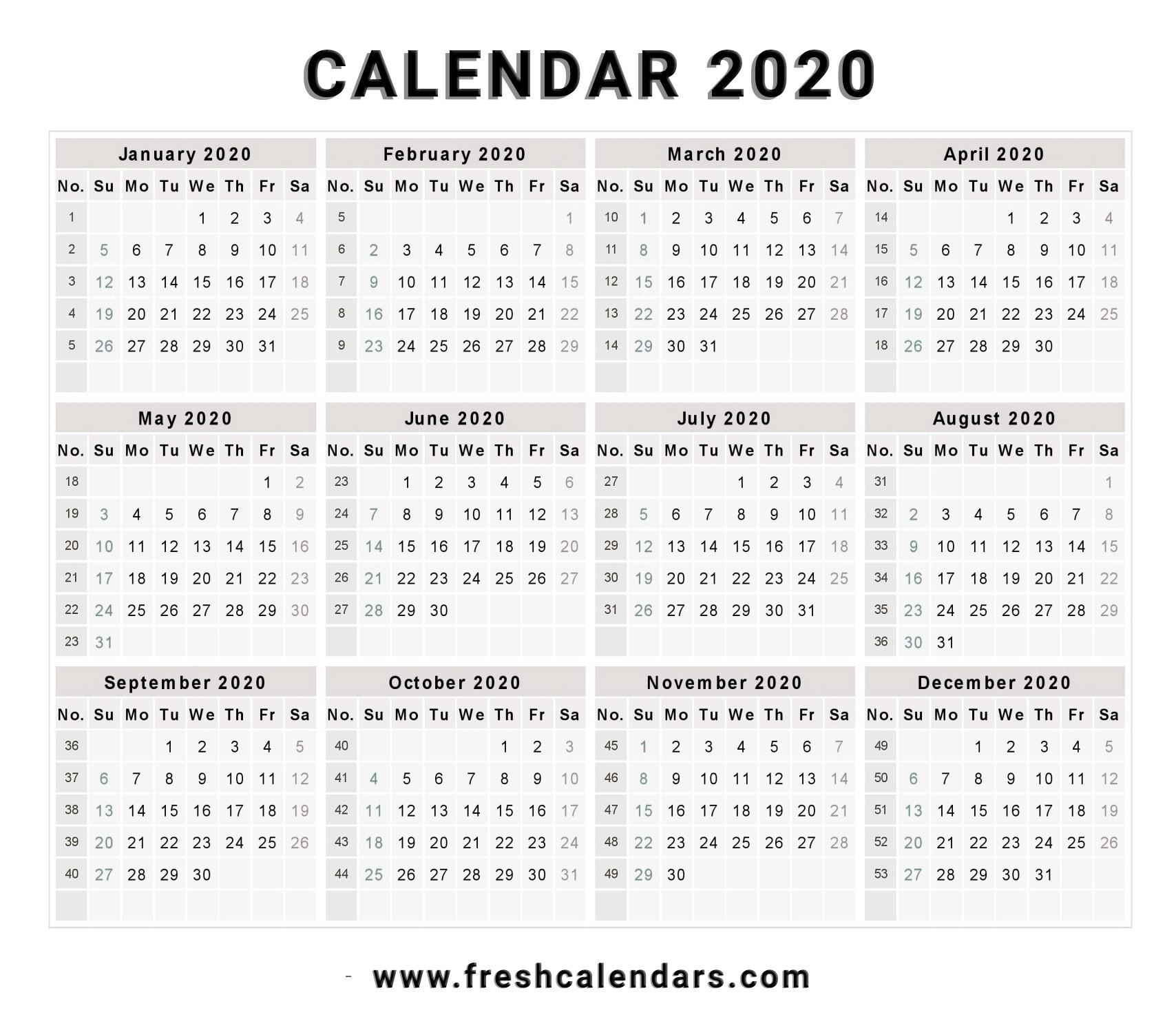 Get Free Printable Calendar