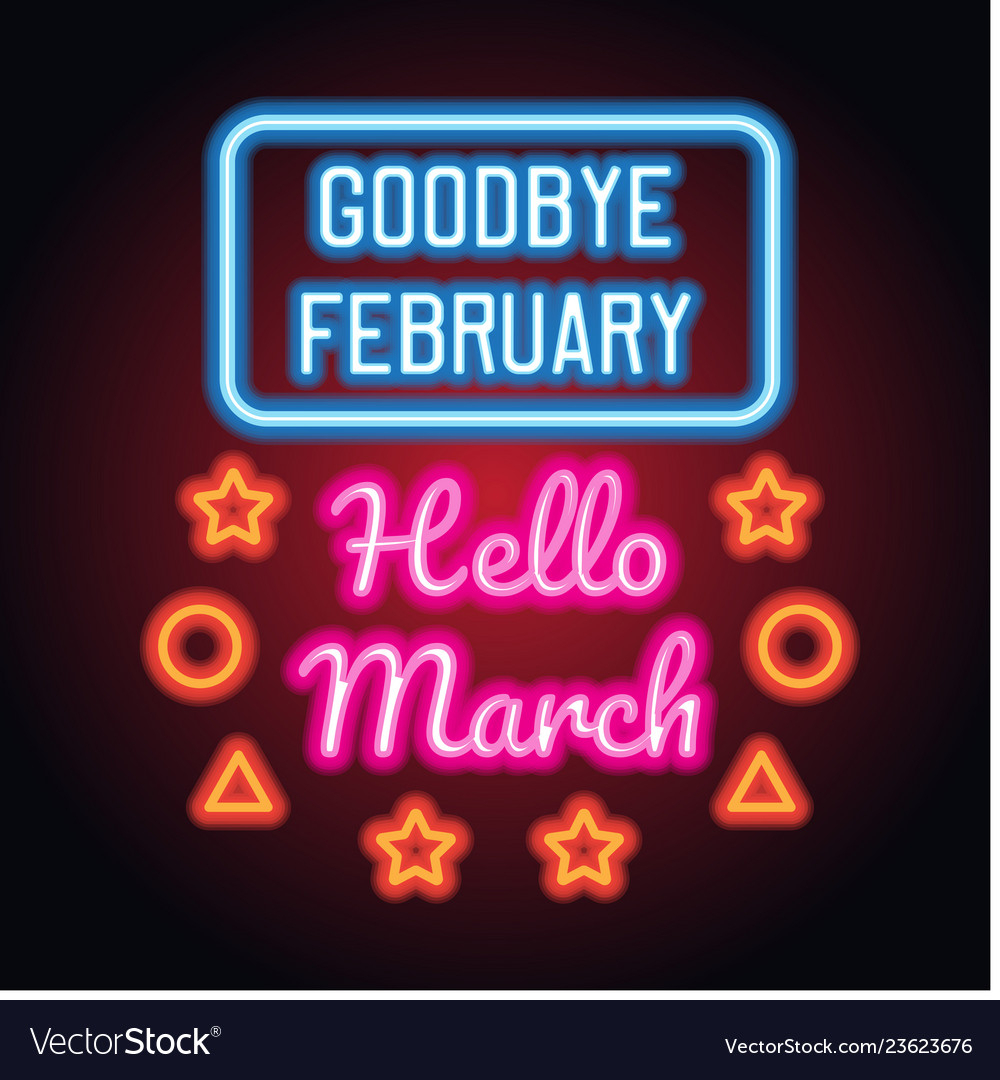 Goodbye February Hello March Images