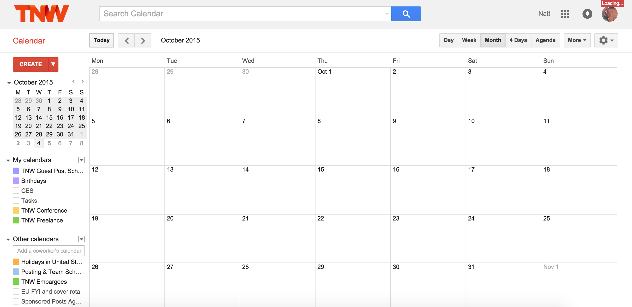 [%Google Calendar Is Down, Consider All Your Meetings Screwed [Updated]|Blank Calendar Google|Blank Calendar Google%]