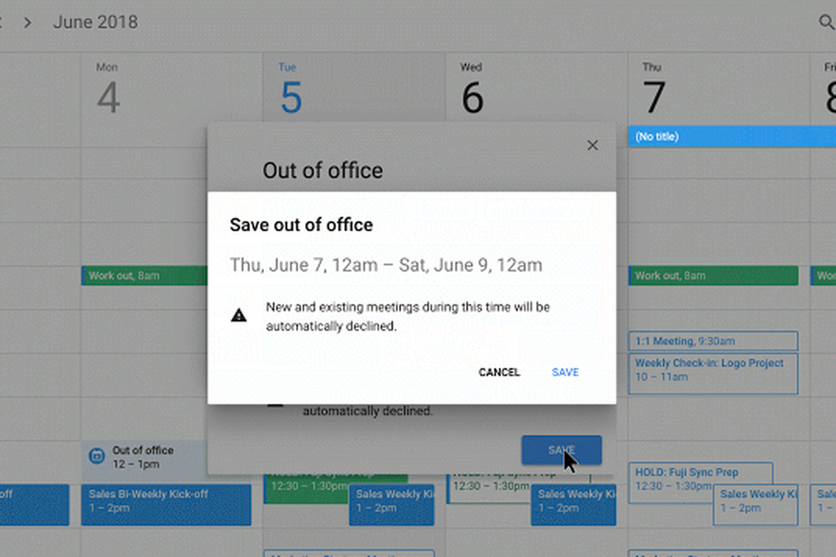 Google Calendar Now Has An 'out Of Office' Option - The Verge