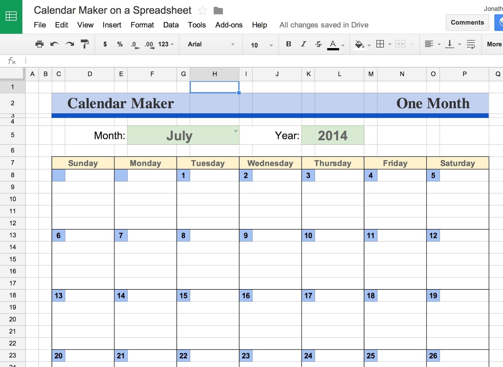 Google Docs Calendar Template - Template Ideas