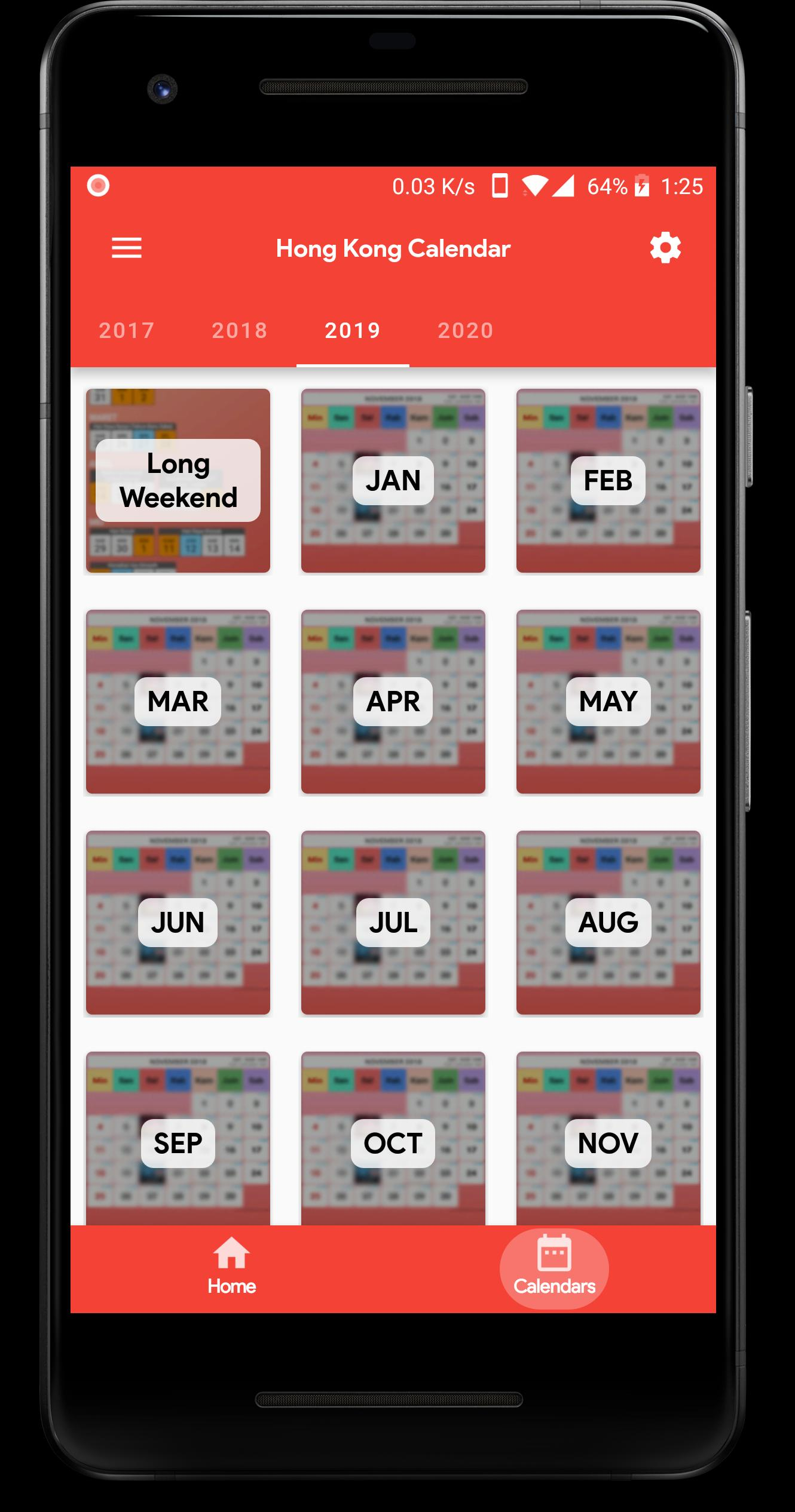 Hong Kong Calendar For Android - Apk Download