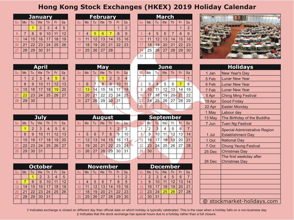 Hong Kong Stock Exchange 2019 / 2020 Holidays : Hkex Holidays 2019