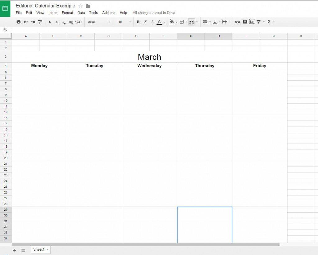 How To Create A Free Editorial Calendar Using Google Docs - Tutorial