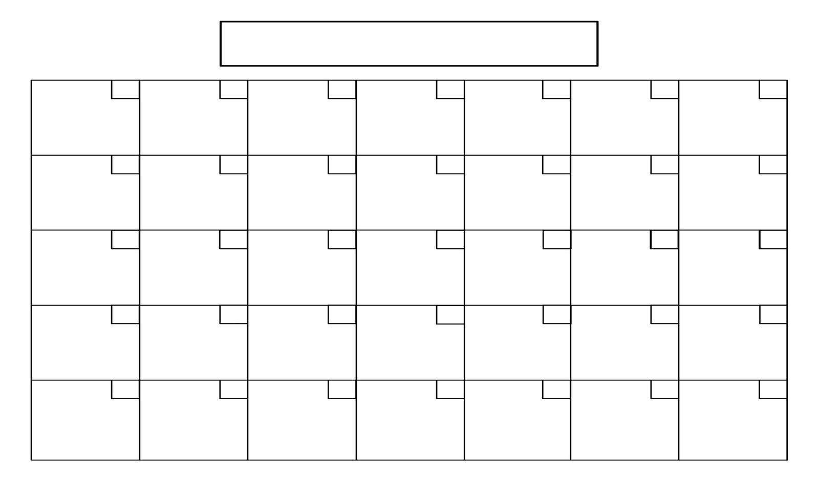 Impressive 1 Page Blank Calendar • Printable Blank Calendar Template