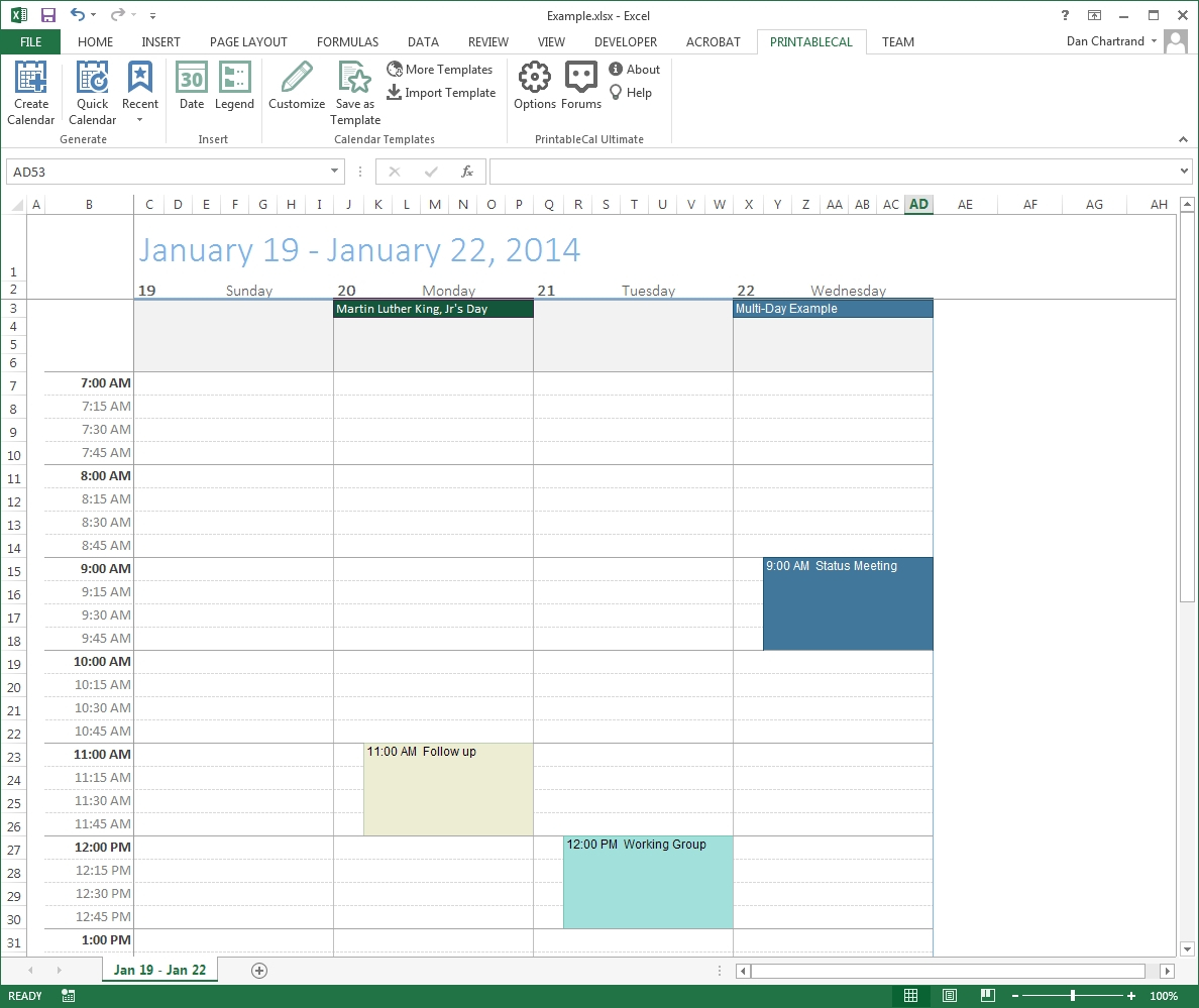 Incredible Create A Blank Calendar In Outlook • Printable Blank