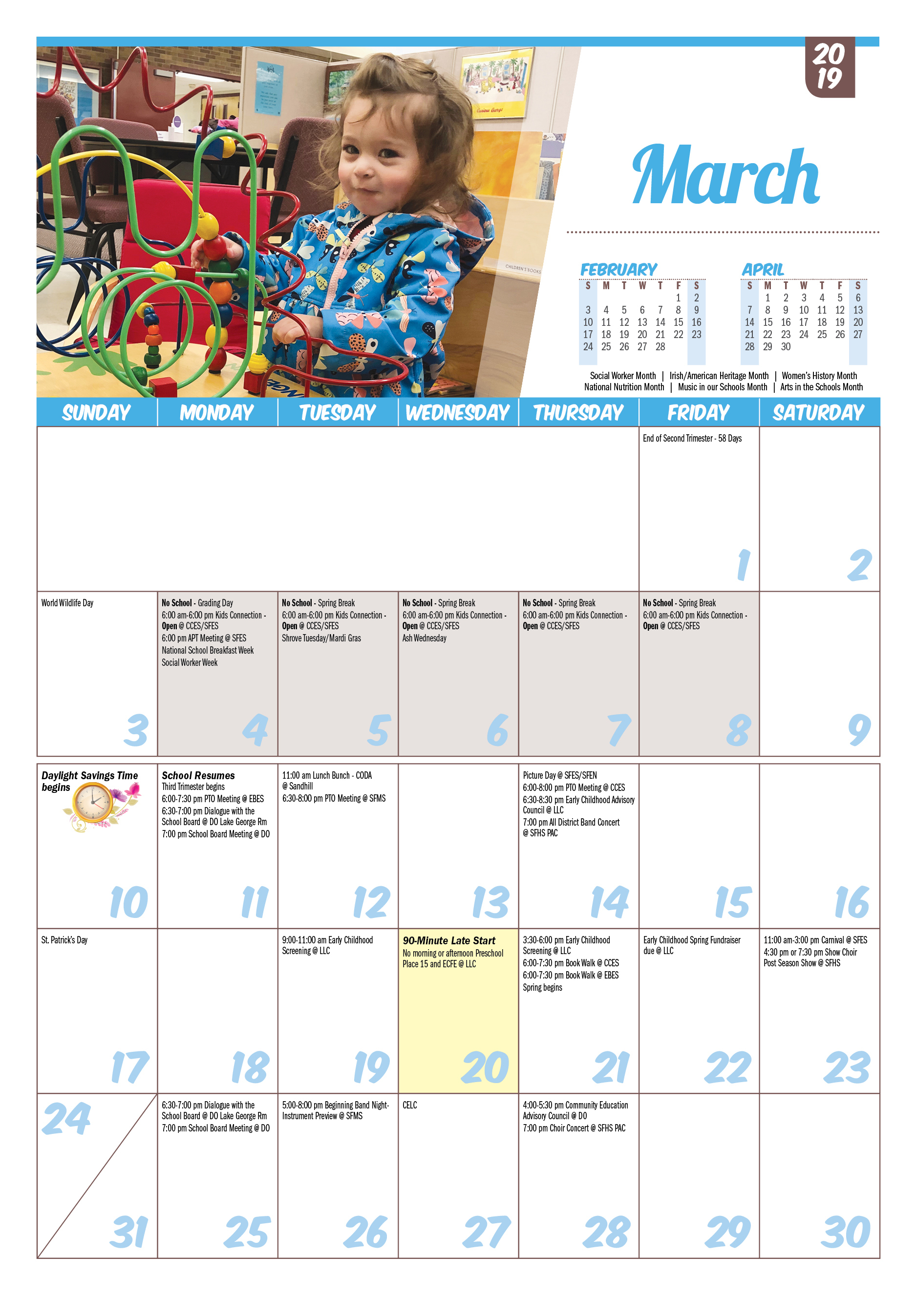 Isd 15, St. Francis: Printable Calendars