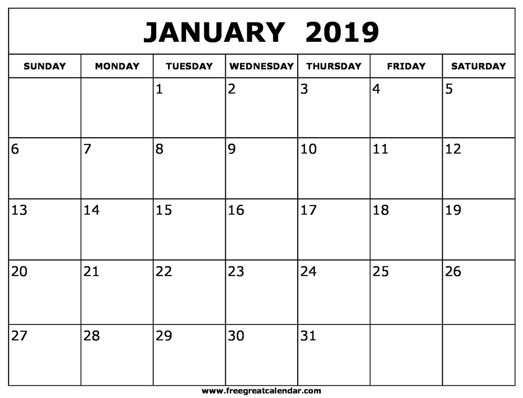 January January Calendar - Agadi.ifreezer.co