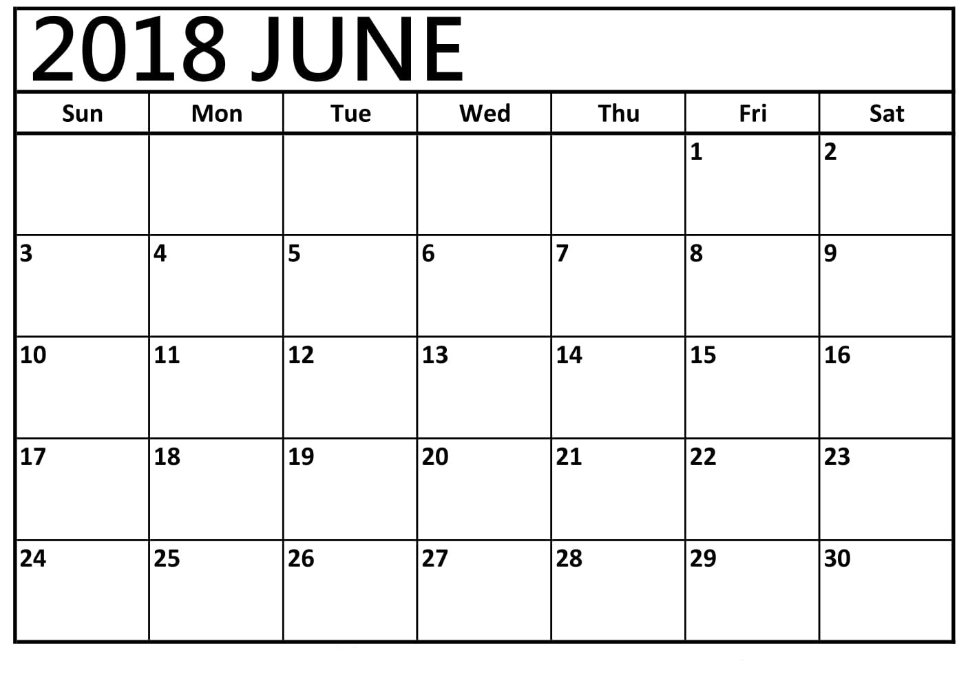 [%June 2018 Printable Calendar | [Free]* Printable Calendar 2018 Templates|Blank Calendar June 18|Blank Calendar June 18%]