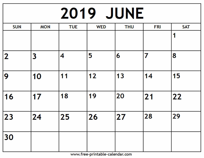 June Free Printable Calendar