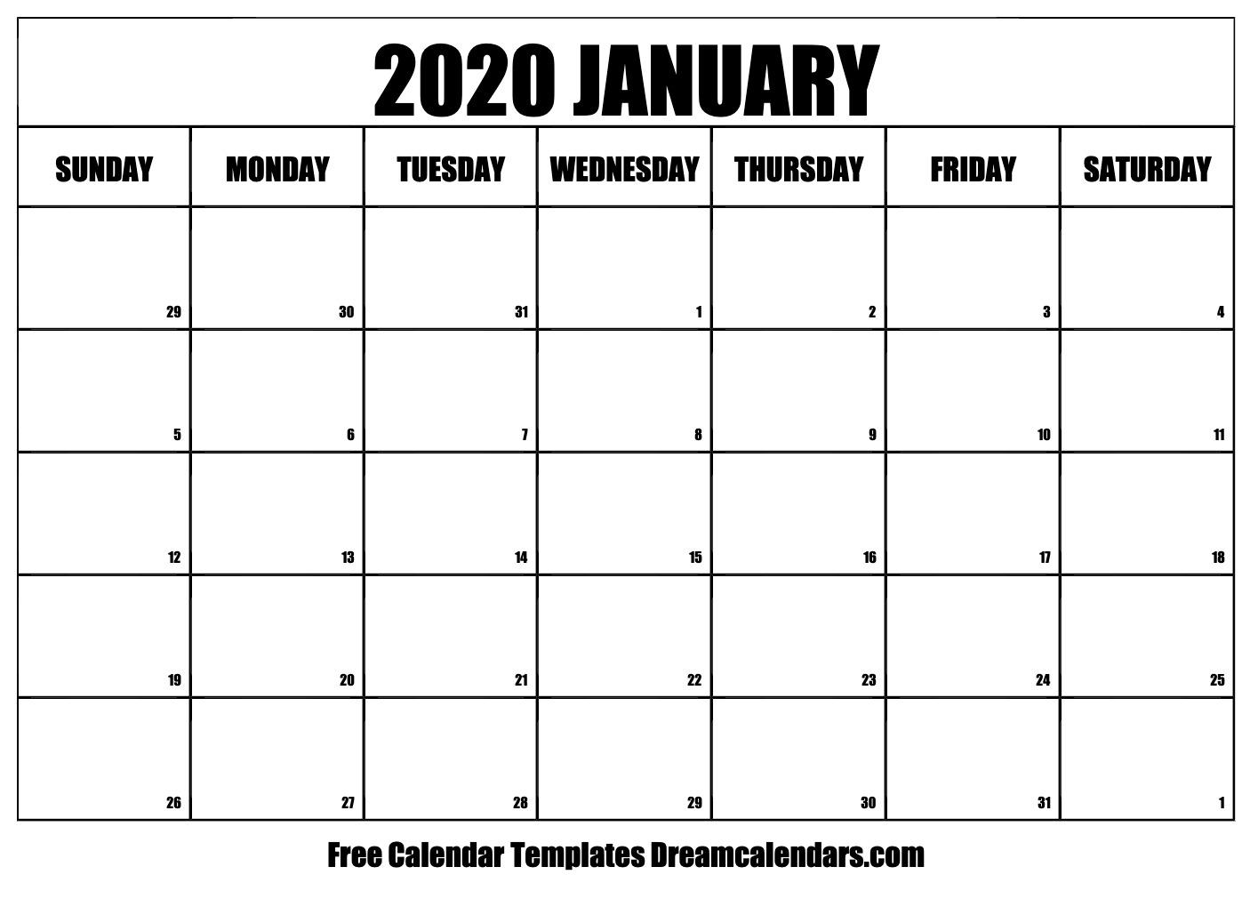 Ko-Fi - Printable January 2020 Calendar - Ko-Fi ❤️ Where Creators
