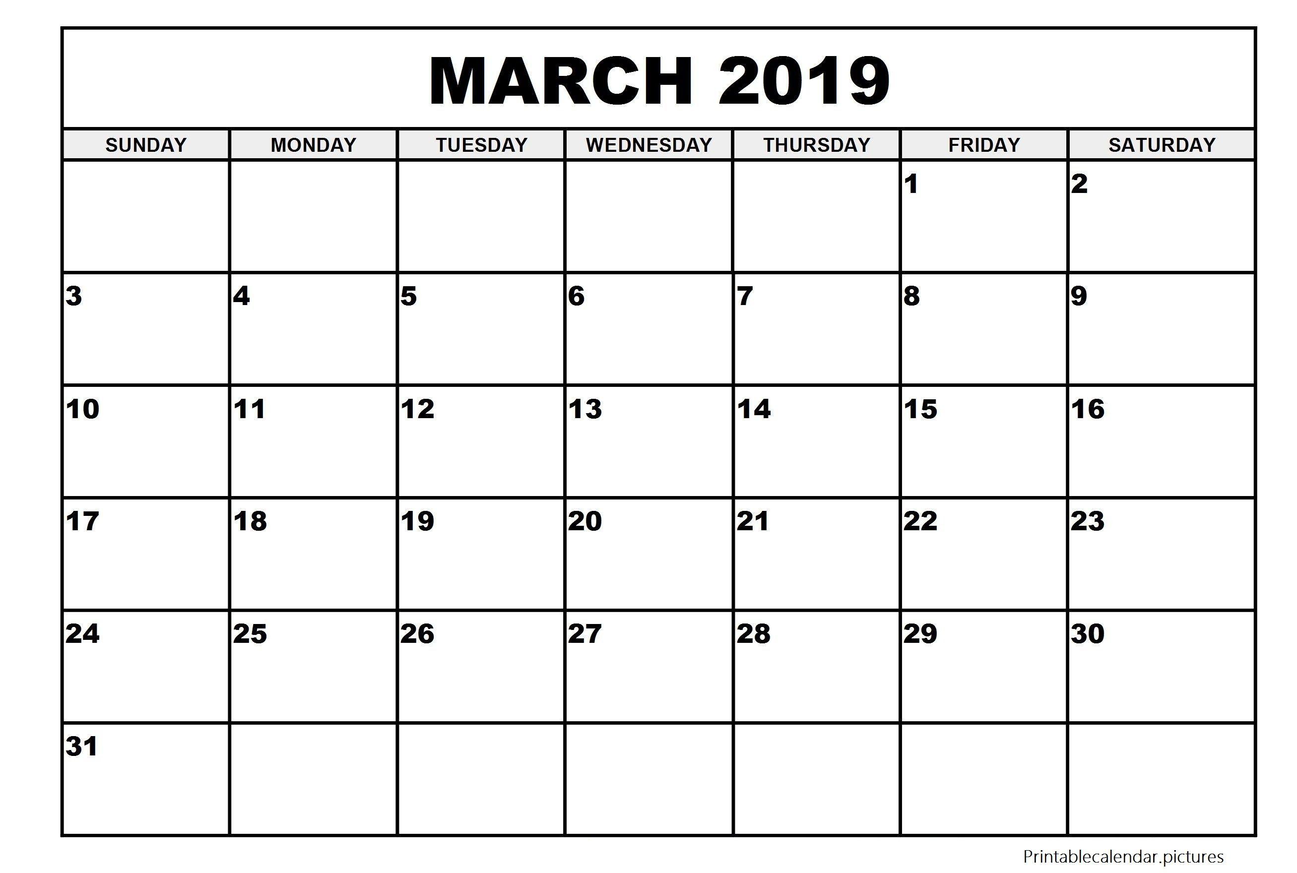Large Printable Calendar May 2019