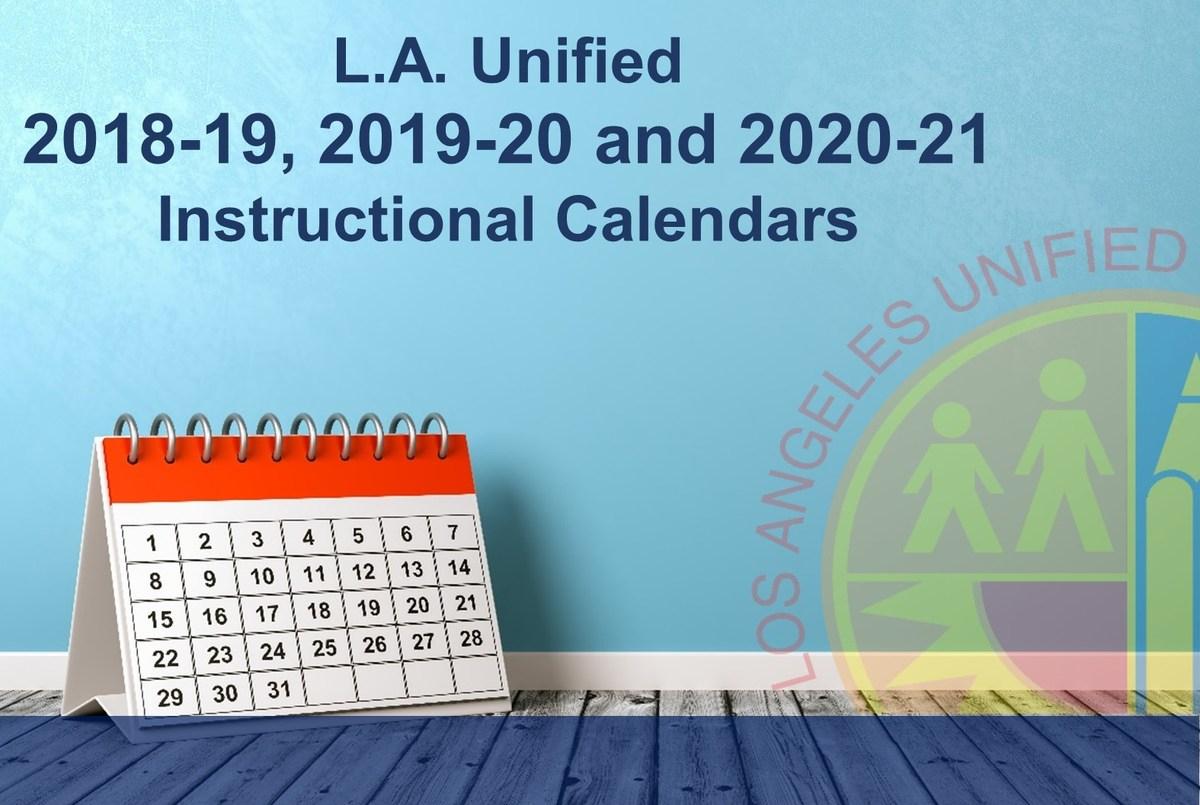 Lausd 2020 Calendar