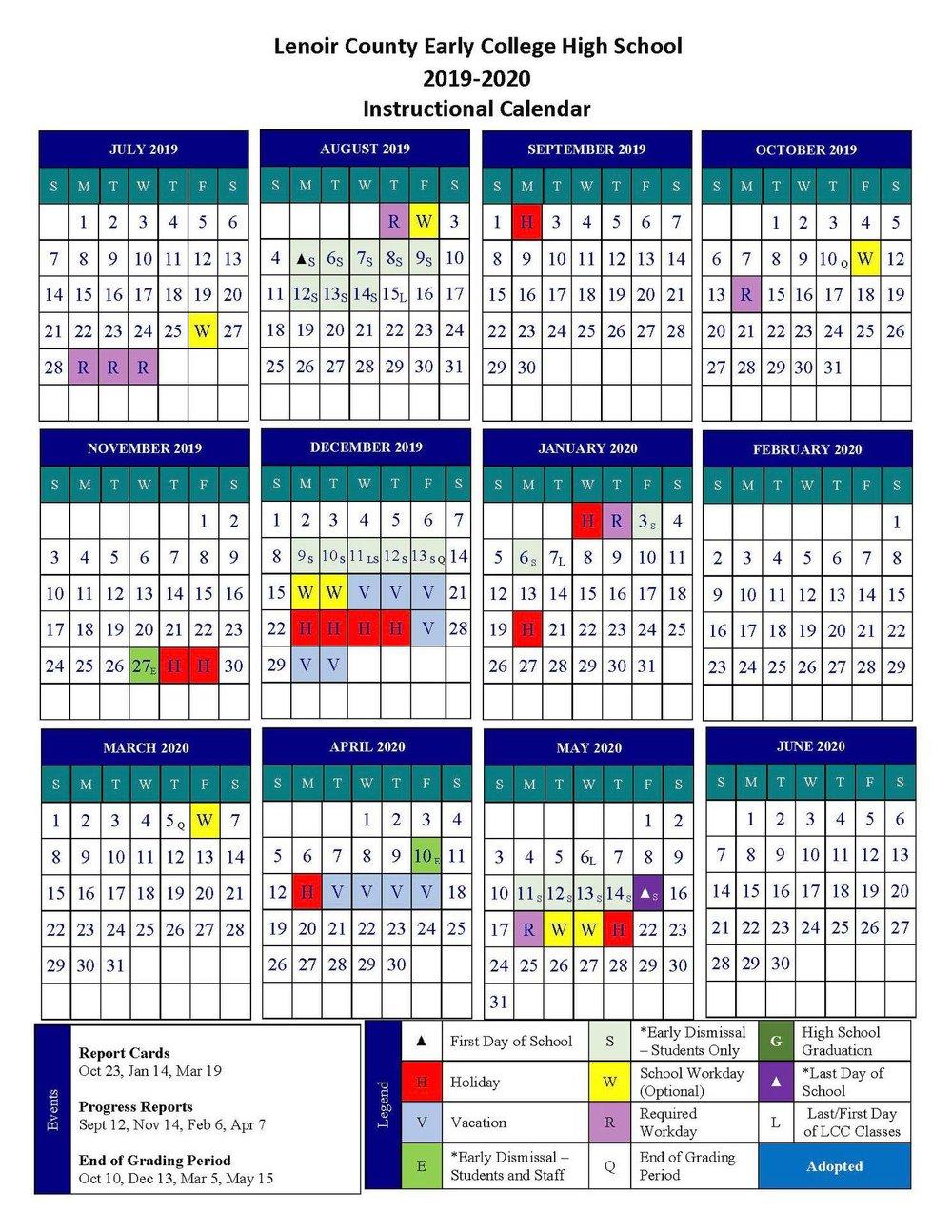 Lcps 2020 Calendar