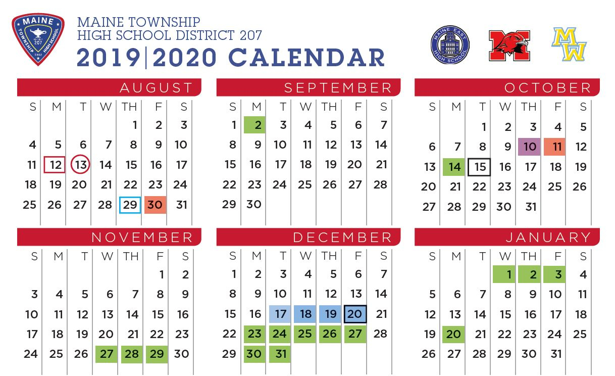 Maine South High School - Board Approves Final 2019-20 Calendar
