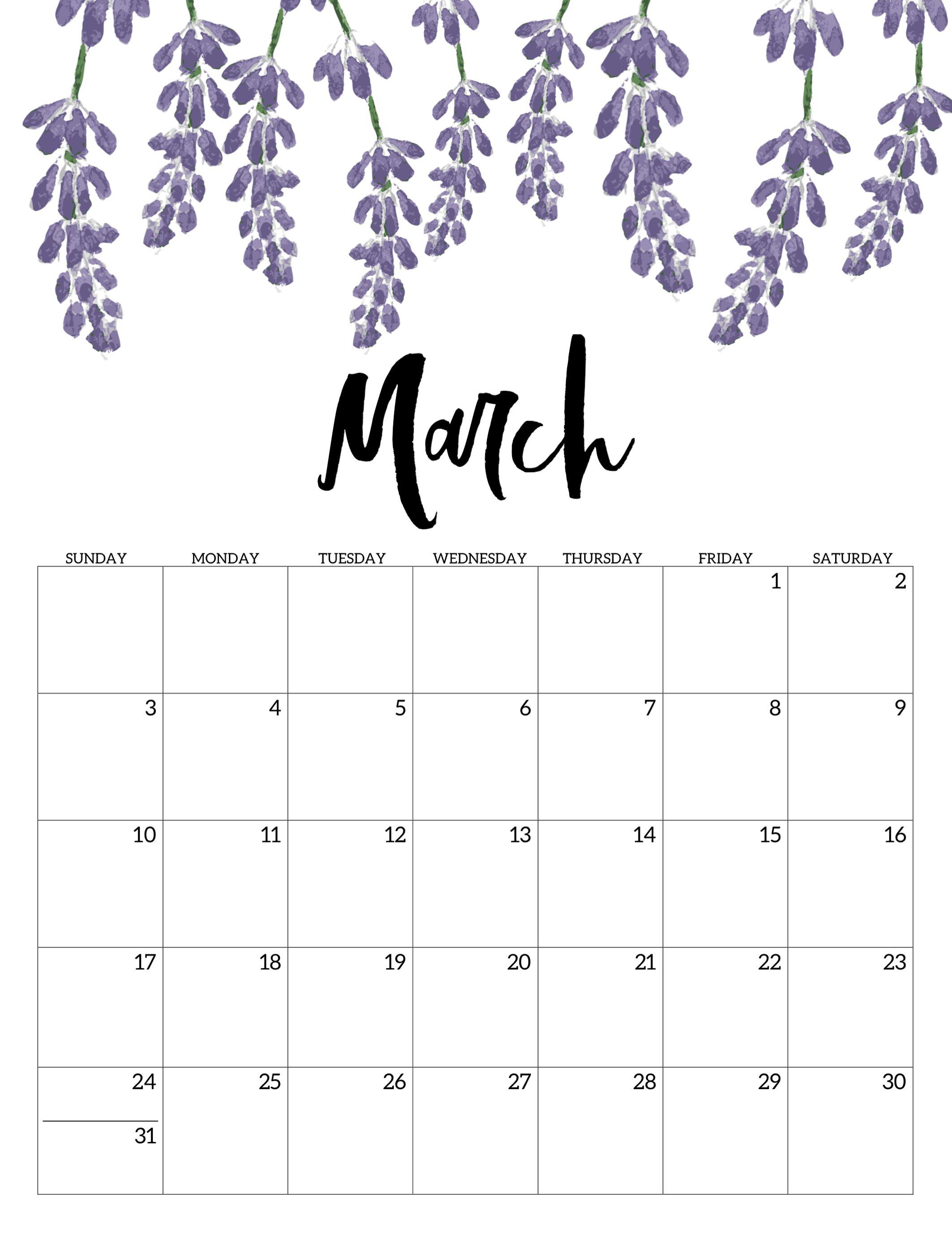 March 2019 Floral Desk Calendar #march #march2019 #march2019Calendar