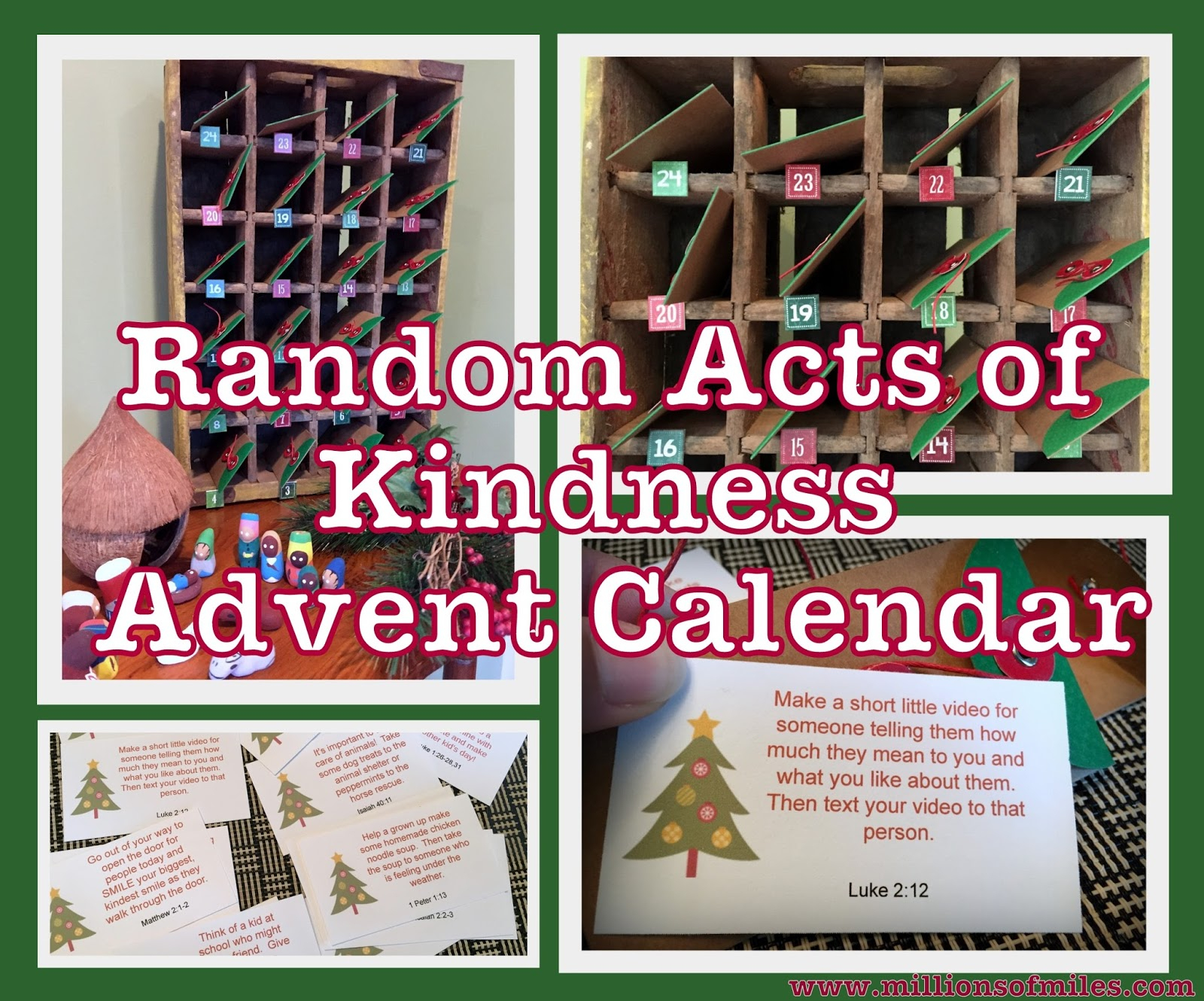 Millions Of Miles: Random Acts Of Kindness Advent Calendar (With