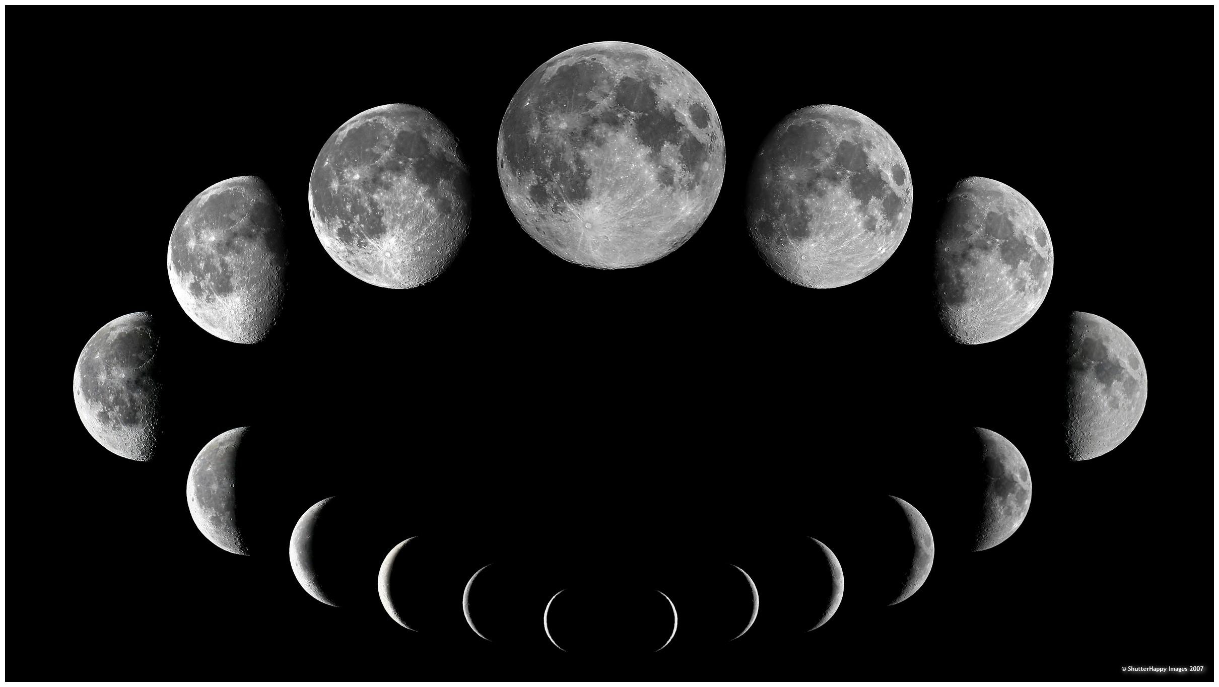 Moon Phases Desktop Wallpaper