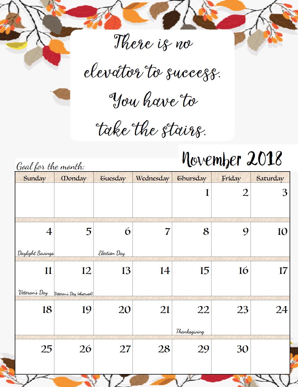 November Printable