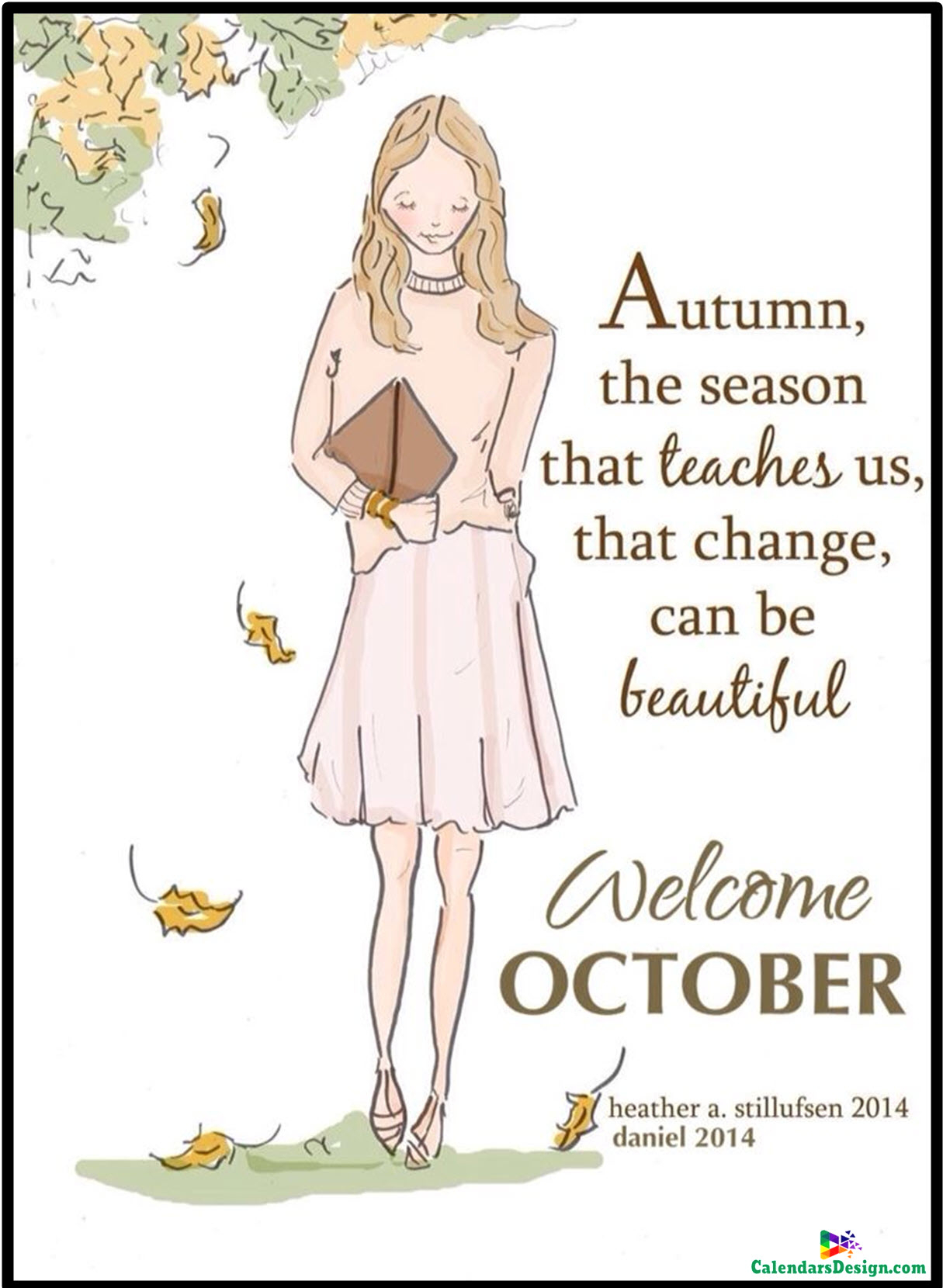 October Quotes For Calendars