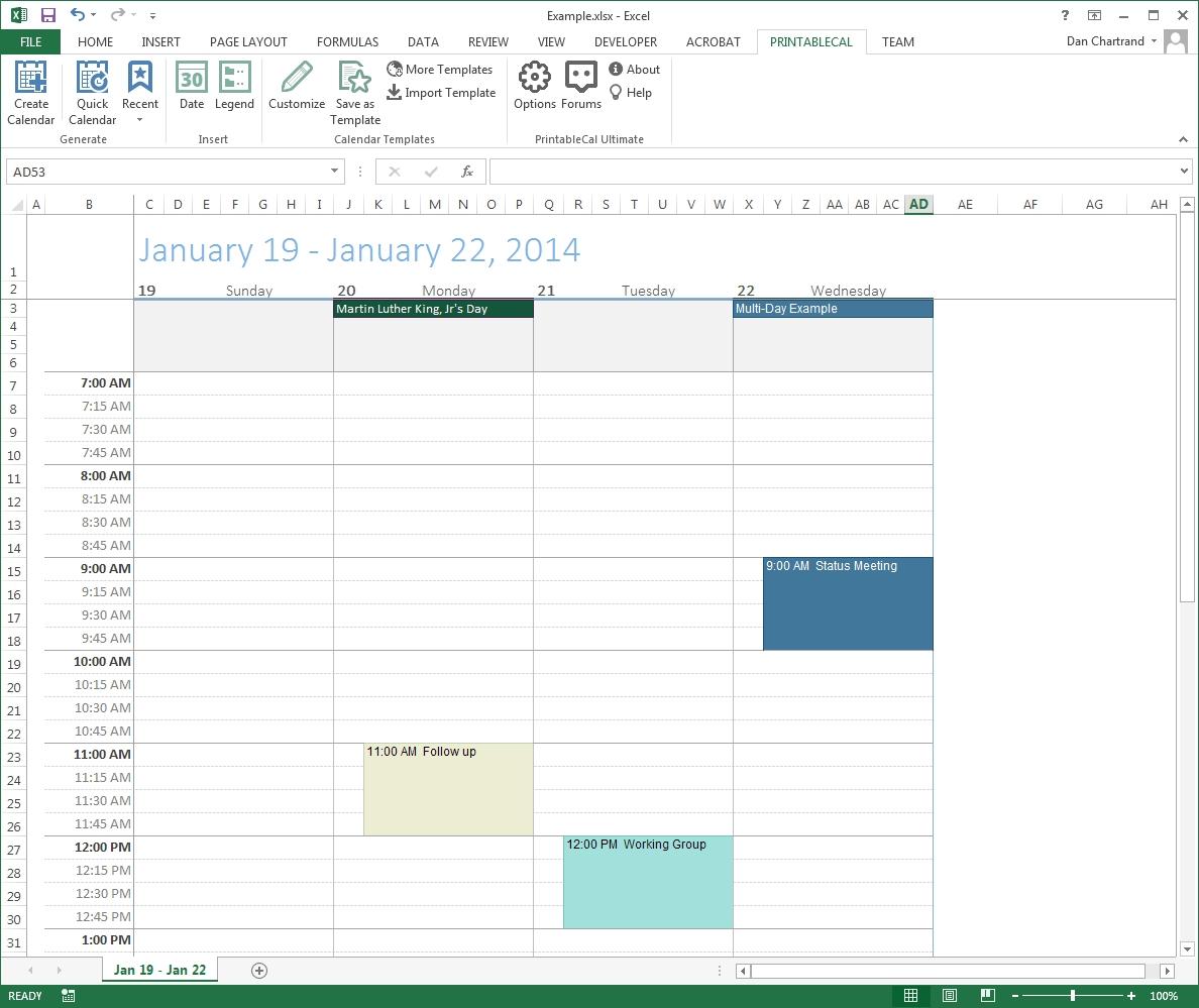 Print Blank Calendar In Outlook