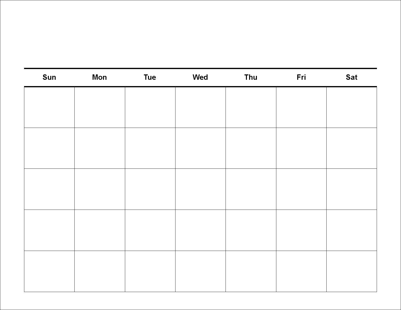 Printable Blank Calendar (86+ Images In Collection) Page 1