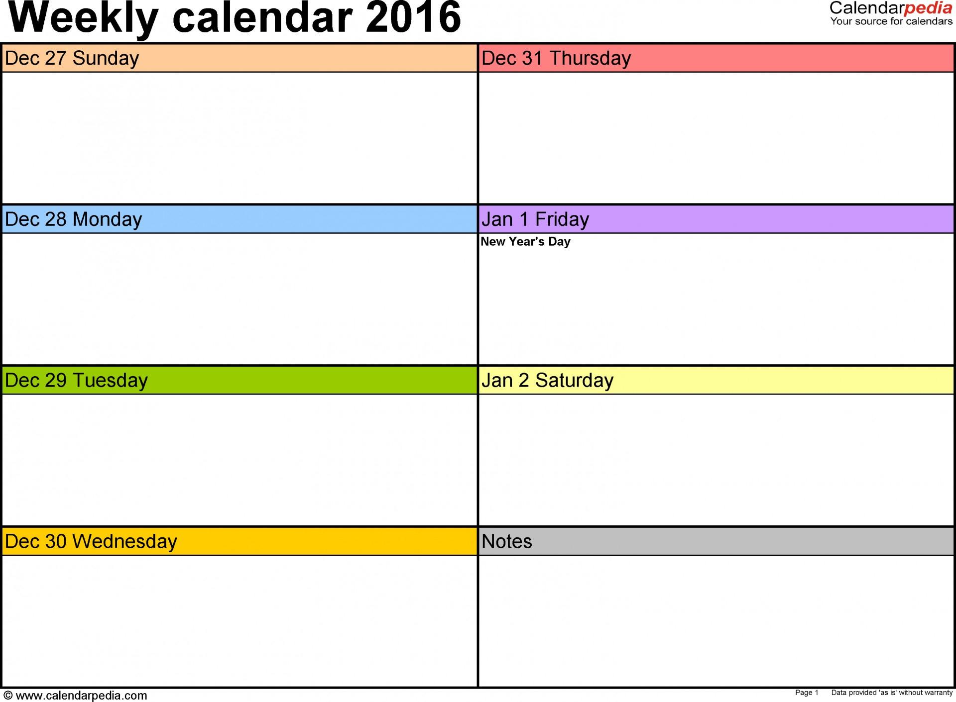 Printable Blank Weekly Calendar Template Remarkable Ulyssesroom