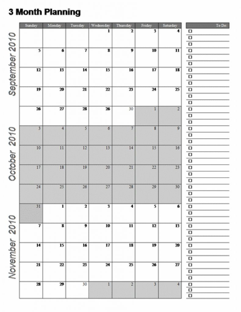 Printable Calendar 4 Months Per Page Printable Calendar 4 Months Per